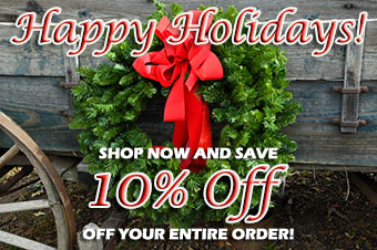 Happy Holidays! Take an additional 10% off your entire order!