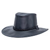 American Outback Crusher Packable Leather Hat - Black Finished