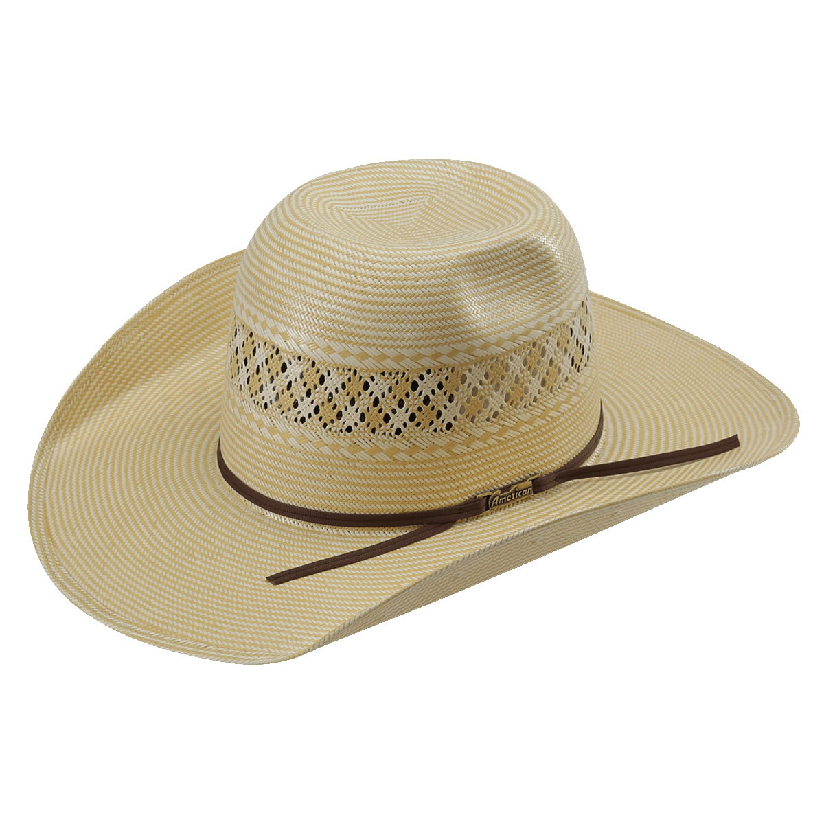 d5075ad96fcc4 Pungo Ridge - American Hat Co 15☆ 1022 2X2 Two-Tone Vented Straw ...