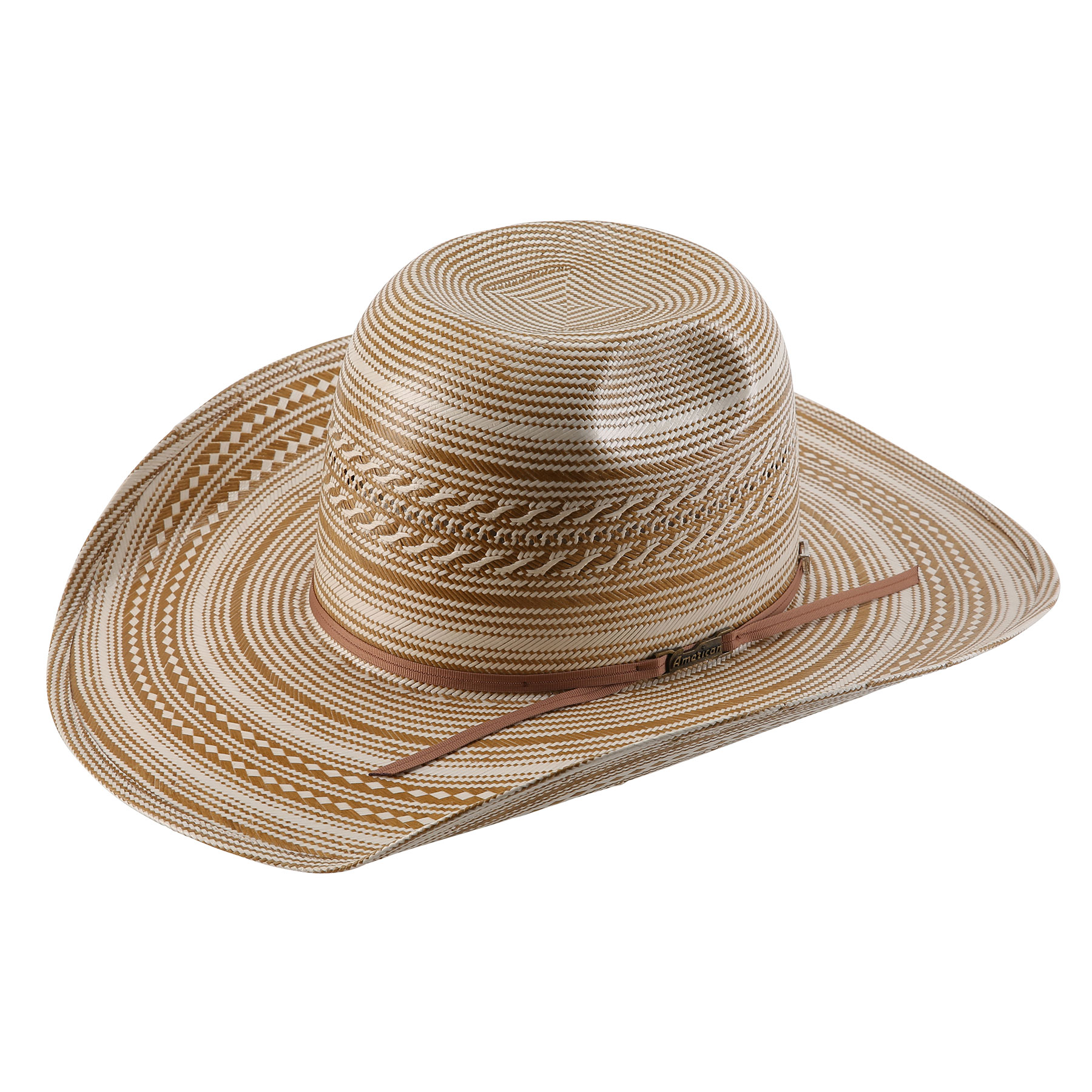 5dcb07af7 American Hat Co 20★ 1080 Two Tone Vented Straw Hat - Chocolate/Ivory