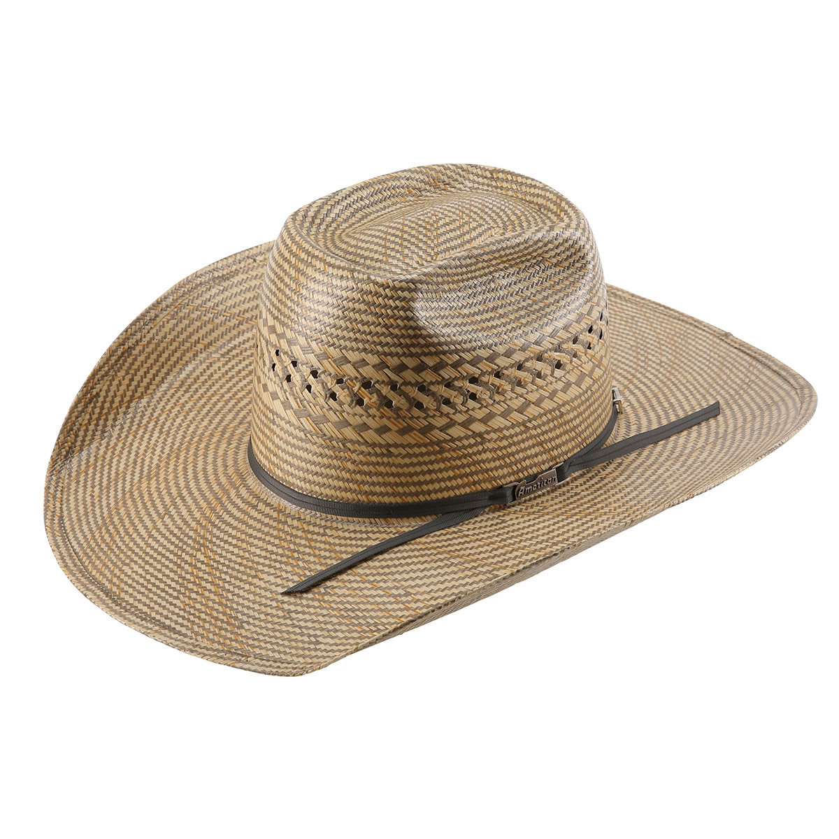 Pungo Ridge American Hat Co 20 Fancy Vent Two Tone Straw Hat