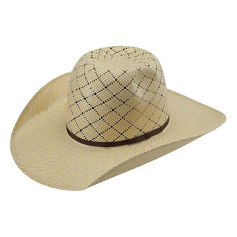 American Hat Co 20★ Patchwork Crossbred Straw Hat - Wheat