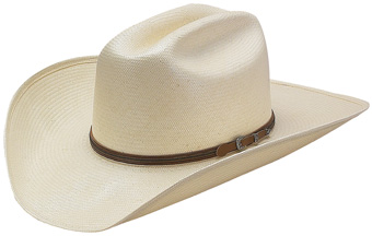 American Hat Co 20★ Solid Shantung Straw Hat - Clear Lacquer