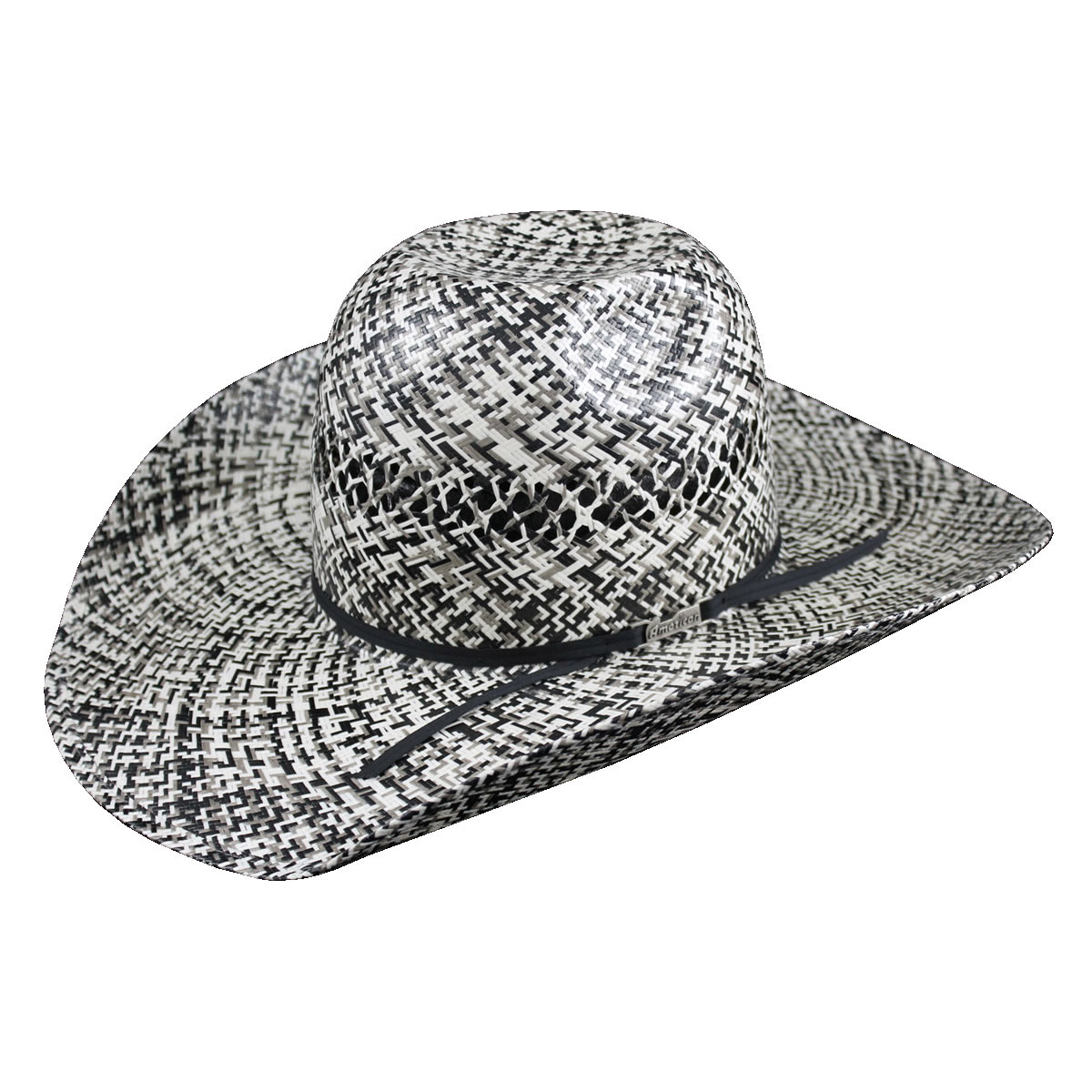 e6527203b8e American Hat Co 20☆ Two Tone Fancy Vent Straw Hat - Ivory Black . Tap to  expand