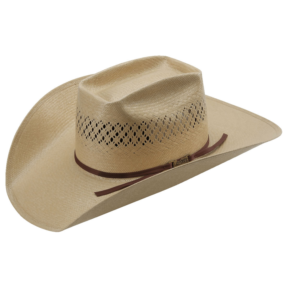 Pungo Ridge - American Hat Co 20☆ Fancy Vented Straw Hat - Tan ... 155ad75864d6