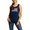 Ariat Women's Sequin Flag Tank - Navy Eclipse
