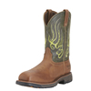 Ariat Mens Workhog Mesteno Boots w/Comp Toe - Rust/Moss