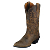 Ariat Heritage Western R Toe Boots - Distressed Brown