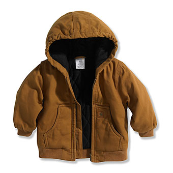 Carhartt Boy's Infant/Toddler Quilted Flannel Lined Jacket - Carhartt Brown