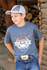 Cinch Boy's Screen Print Tee - Heather Navy