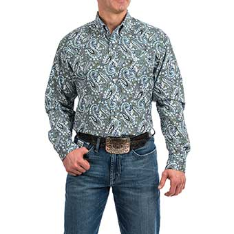 Cinch Men's L/S Paisley Print Button-Down Shirt - Multi