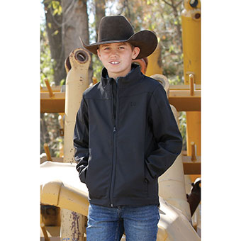 Cinch Boy's Solid Bonded Jacket - Black