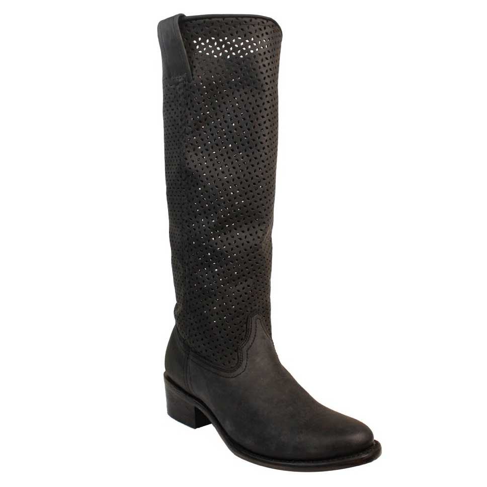 094a14179d8f Pungo Ridge - Corral Women s Cut Out Tall Top Round Toe Boot - Black ...