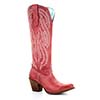 Corral Women's Embroidery Tall Top Round Toe Boot - Red