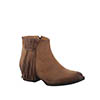 Circle G Women's Fringe Shorty Boots - Tan