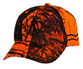Cowboy Up Mossy Oak Embroidered Ball Cap - Blaze Orange