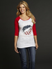 Cowgirl Up Ladies American Style 3/4 Sleeve Baseball Tee