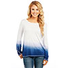 Cowgirl Up Ladies Long Sleeve Ombre Top