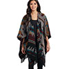 Cripple Creek Ladies Navajo Blanket Wrap Poncho w/ Fringe