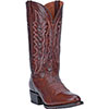 Dan Post Men's Carr Leather R Toe Western Boots - Brass