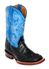 Ferrini Kid's Print Crocodile Western Boots - Black/Blue