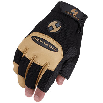 Heritage Farrier Work Glove - Black/Tan