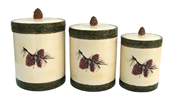 Pine Cone Canister Set