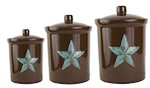 Rustic Barn Star Canister Set