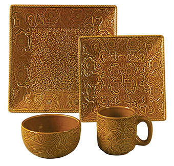 Savannah 16-Piece Dinnerware Set - Mustard