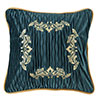 Loretta Ruched Velvet Pillow w/Embroidery