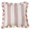 Bandera Striped Euro Sham - Red/Vintage White