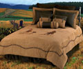 Embroidered Team Roping Comforter Set