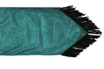 Cheyenne Faux Tooled Leather Runner - Turquoise