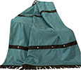 Cheyenne Faux Tooled Leather Throw - Turquoise