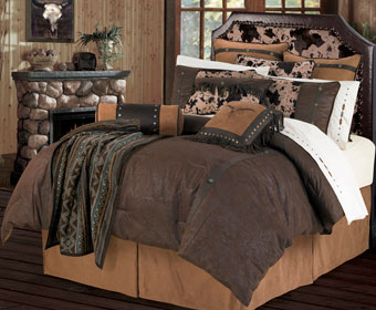 Caldwell Faux Leather Tooled Bedding Set