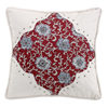 Bandera Scalloped Pillow - Red/Vintage White