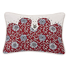 Bandera Oblong Floral Pillow w/Concho - Red/Vintage White