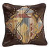 Ruidoso Square Pillow w/Scalloped Corners - Multi/Brown