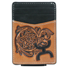 Hooey Signature Tooled Leather Money Clip - Black/Brown
