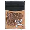 Hooey Signature Tooled Leather Money Clip - Black/Tan