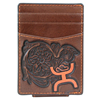 Hooey Signature Tooled Leather Money Clip - Brown