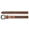 Hooey Signature Chain Cutout Leather Belt - Brown
