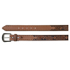 Hooey Signature Floral Diamond Leather Belt - Brown