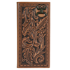 Hooey Signature Tooled Leather Rodeo Wallet - Saddle Brown