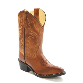 Old West Children's J Toe Western Boots - Tan Canyon