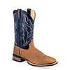 Old West Men's Broad Square Toe Boots - Light Distress
