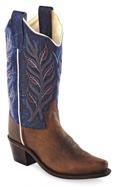 6b46ab6a272 Old West Children's Fashion Western Boots - Brown