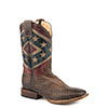 Roper Mens Vintage Rebel Flag CCS Square Toe Boots