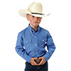 Roper Boy's Solid Poplin Button Shirt - Blue