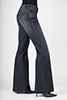 Stetson Ladies 214 City Trouser Fit Long Jeans - Dark Wash
